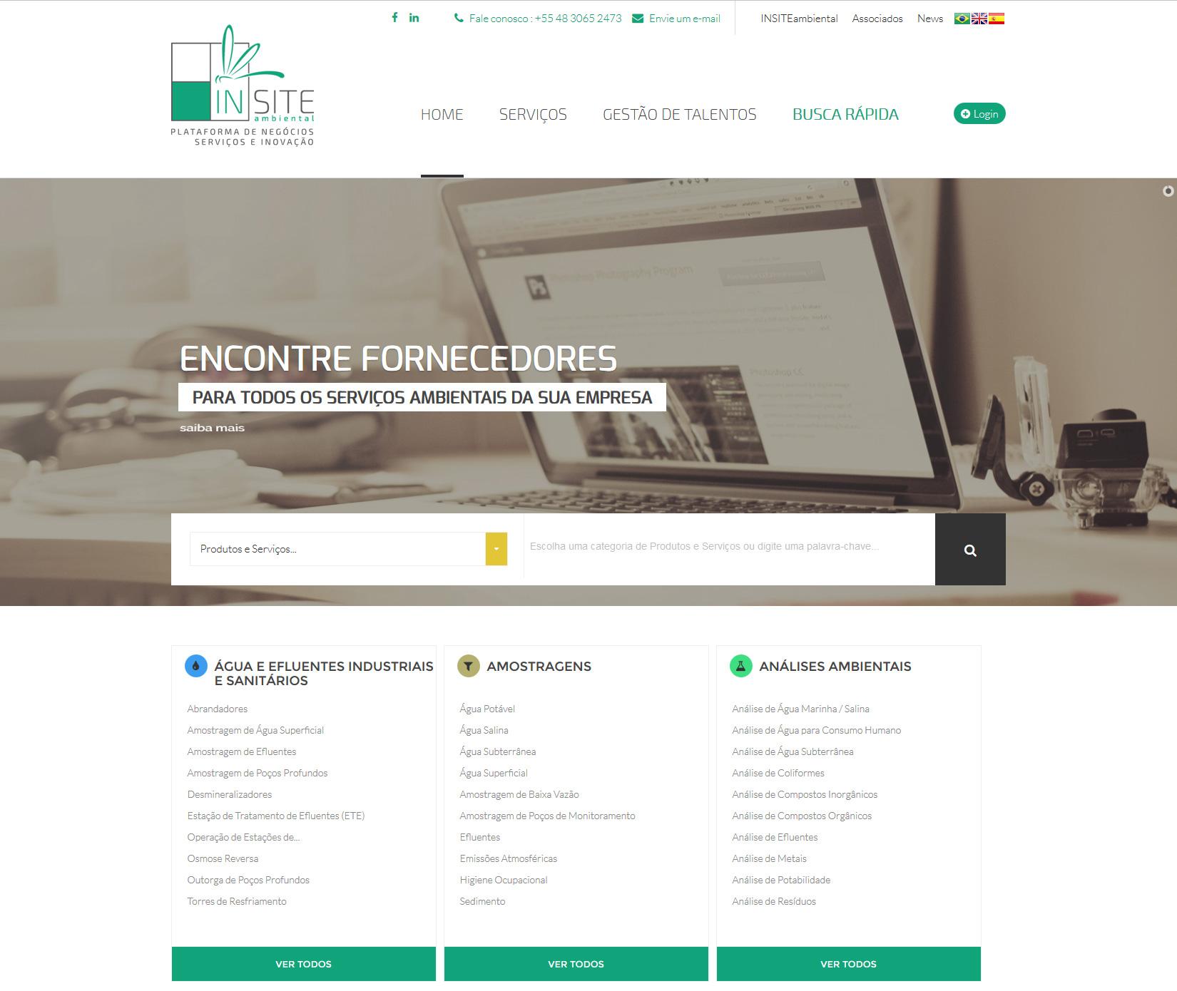 29f96a9b5b2b criação de sites. INSITEambiental - portal de serviços ambientais