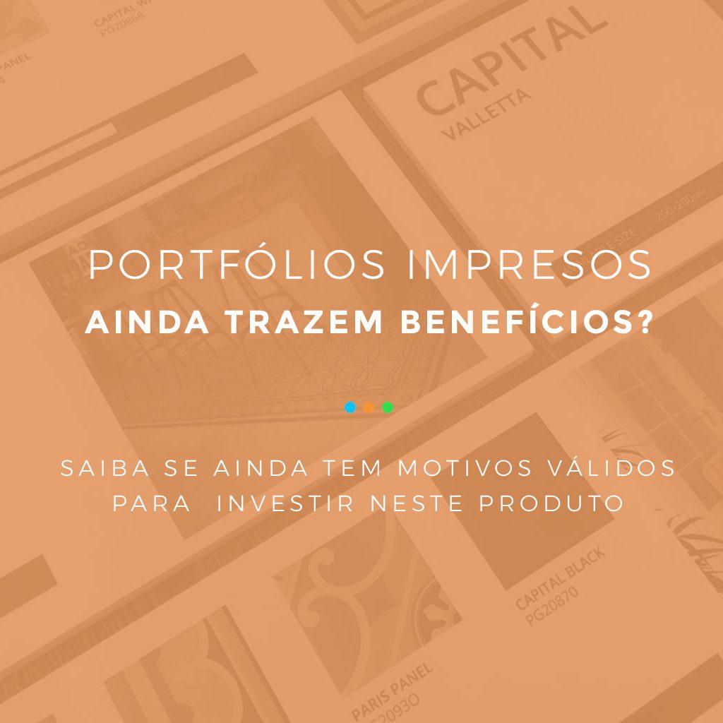 portfólios impressos