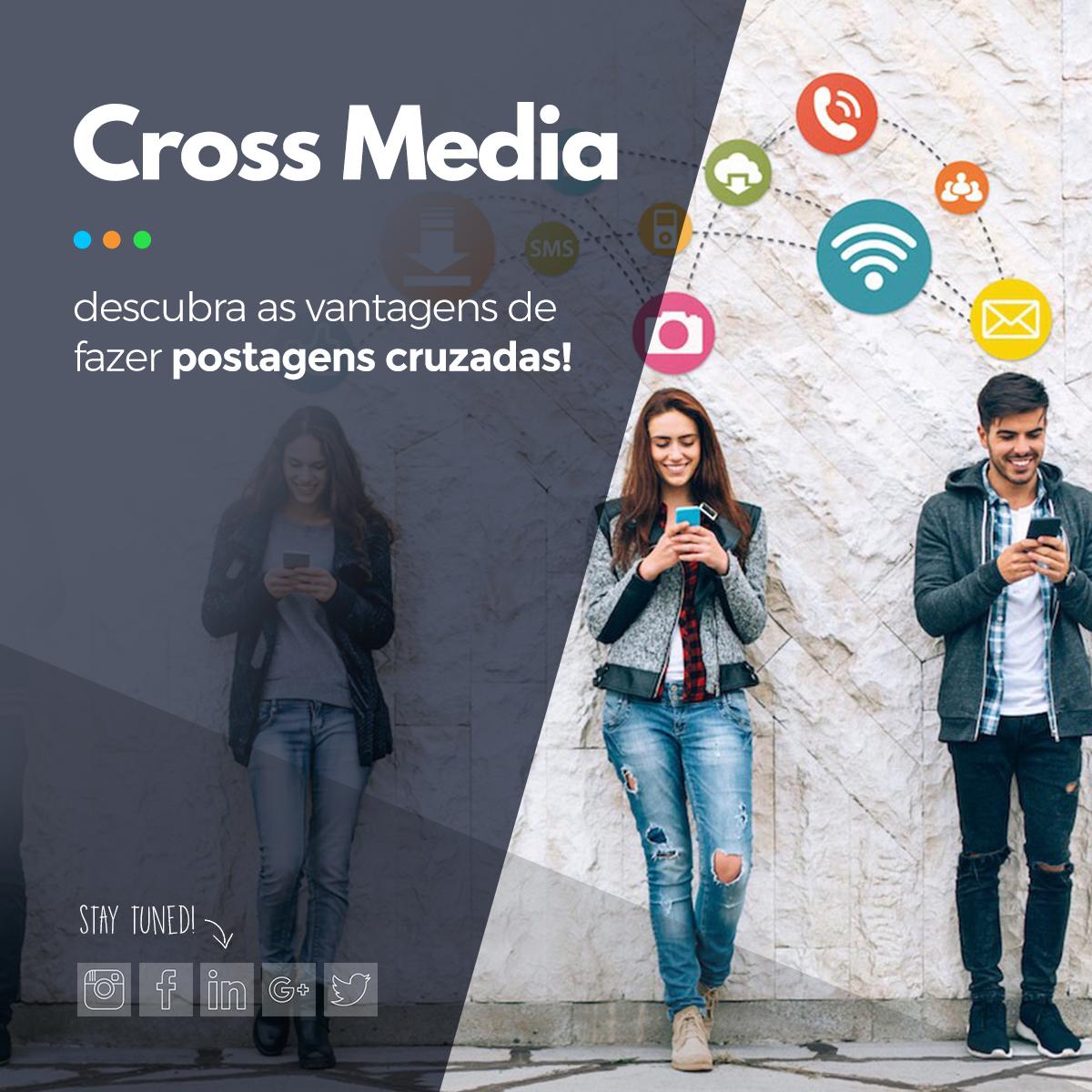 postagens cruzadas nas redes sociais
